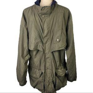 HELLY HANSEN Khaki Nylon Windbreaker Jacket Large